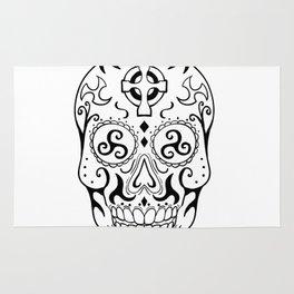 Mexican Skull Triskele Celtic Cross Tattoo Rug