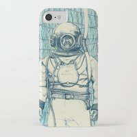 diver iPhone & iPod Cases featuring Diver by Alli Coate