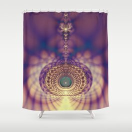 Fractal Abstract 45 Shower Curtain