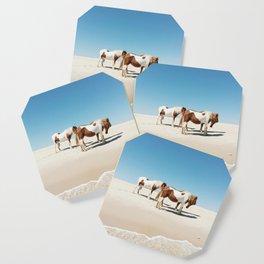 Summer Shore Horses Coaster