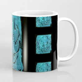 Aqua dolphin roman mosaic pattern Coffee Mug