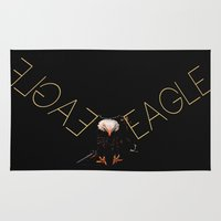 eagle Area & Throw Rugs featuring Eagle by Joe Ganech