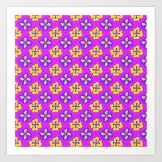 Pop pansy pattern! Art Print