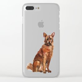 watercolor dog vol 7 sheppard Clear iPhone Case