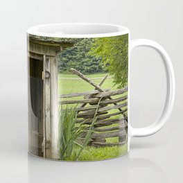 Old Outhouse on a Farm in the Smokey Mountains Coffee Mug