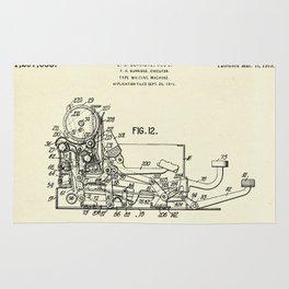 Type Writing Machine-1919 Rug