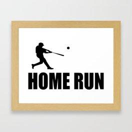 home run baseball sports hobby Framed Art Print