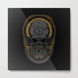 Metal Disc Jockey Metal Print