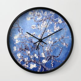 Vincent Van Gogh Almond BlossomS Blue Wall Clock
