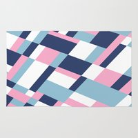 matisse Area & Throw Rugs featuring Matisse Map Pink by Project M