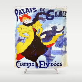 Vintage poster - Palais de Glace Shower Curtain