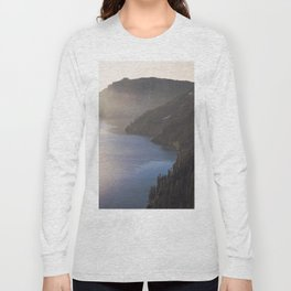 First Light at the Lake - Nature Photography Long Sleeve T-shirt