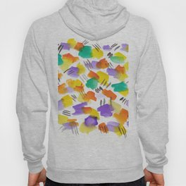180803 August Abstract 3 | Colorful Abstract | Watercolors Brush Patterns Hoody