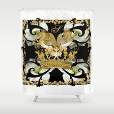 My Empire Collection Summer Set White Flowers Shower Curtain