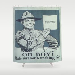 Vintage poster - Honorable Discharge Shower Curtain