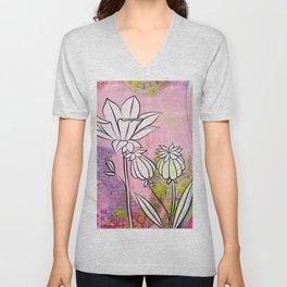 Pod and Daffodil Garden Unisex V-Neck