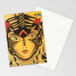 New KG Art Traditional Lady Stationery Cards