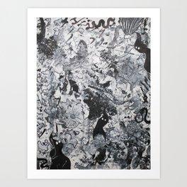 """No. 1"" Acrylic Abstract Painting by Tasha Boehm Art Print"