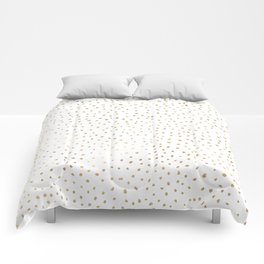 Dotted Gold Comforters