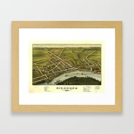 Aerial View of Richmond, Maine (1878) Framed Art Print