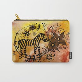 Abstract Acrylic Painting ZEBRA Carry-All Pouch