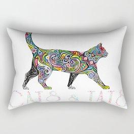 Cats and Tats Shirt For Men & Women Love Tattoos Rectangular Pillow
