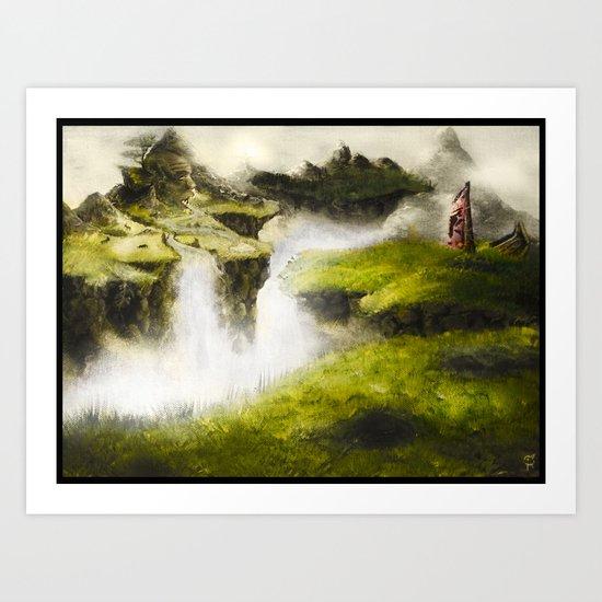 Abandoned Lands Art Print