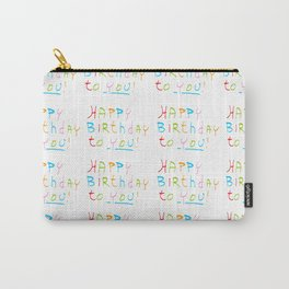 Happy birthday 1-Happy birthday, birthday,greeting,candle,birth date, anniversary Carry-All Pouch