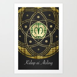 Kidap ai Aisling Art Print