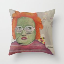 Bitter Brittney Throw Pillow