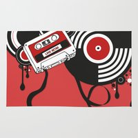 hiphop Area & Throw Rugs featuring Retro by Square Lemon