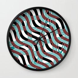 Abstract Wavy Stripes Wall Clock
