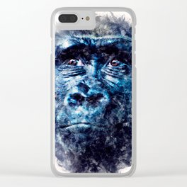 Monkey Watercolor painting Art Clear iPhone Case