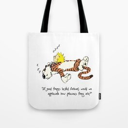 Calvin And Hobbes Sleep Tote Bag