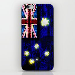 circuit board australia (flag) iPhone Skin