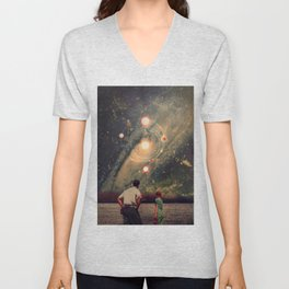 Light Explosions In Our Sky Unisex V-Neck