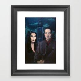 Addams Family Gothic Framed Art Print
