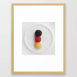 Germany in shape Framed Art Print