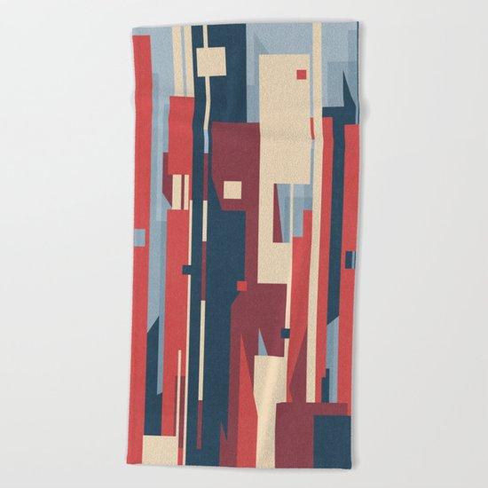 Metropolis Beach Towel