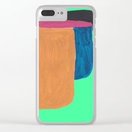 2   190330 Abstract Shapes Painting Clear iPhone Case