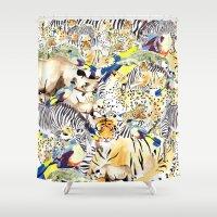 safari Shower Curtains featuring Safari by Katie Rose Johnston