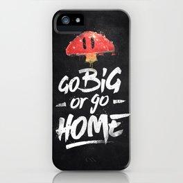 Go Big or Go Home Mario Inspired Smash Art iPhone Case