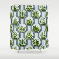 Tiny Planets Shower Curtain