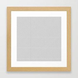 Gray knitting Framed Art Print