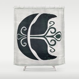 Odin's Ravens (Memory and Thought) Shower Curtain