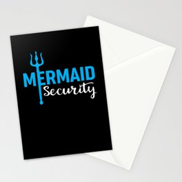 Funny Mermaid Security Stationery Cards
