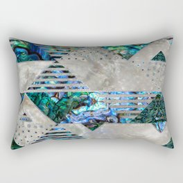 Abstract Geometric Abalone and Mother of pearl Rectangular Pillow