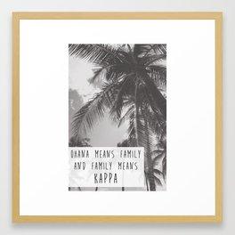 Kappa Ohana Framed Art Print