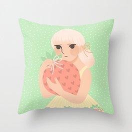 Strawberry! Throw Pillow