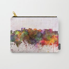 Oakland skyline in watercolor background Carry-All Pouch